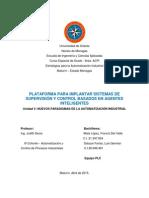 PLC - PLATAFORMA PARA IMPLANTAR SISTEMAS DE SUPERVISIÓN Y CONTROL (EAI)