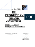 Market Plan For Creative Pencils