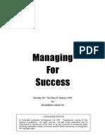 1Leadership - Managing for Success - Leadership Management