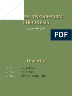Fourier Transform Theorems Presentation