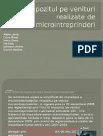 Impozitul pe venituri realizate de microintreprinderi