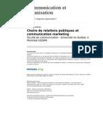 Communicationorganisation 535 33 Chaire de Relations Publiques Et Communication Marketing