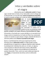 Algunos Mitos y Verdades Sobre El Viagra