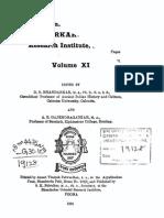 Annals of the Bhandarkar Oriental Research Institute Vol. 11, year 1930