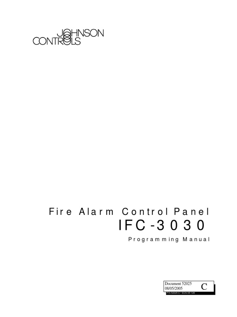 Fire Alarm Control Panel  Programming Manual