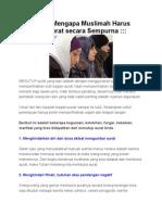 10 Alasan Mengapa Muslimah Harus Menutup Aurat Secara Sempurna