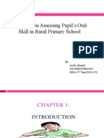 pupils oral skill in primary education