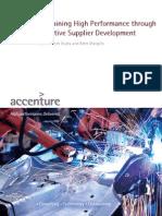 Accenture Sustaining High Performanek emkemk kemkemkce Through Effective Supplier Development (1)