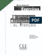 Grammaire Expliquee Du Francais Niveau Debutant Exercices