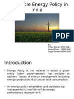 Renewable Energy Policy in India