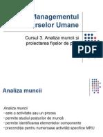 Curs 3 MRU Analiza Muncii Fisa Post
