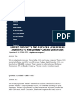 Unified Products and Services Upsexpress