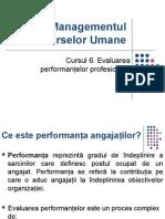 Curs 6 MRU Evaluarea Performantelor Profesionale