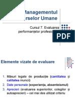 Curs 7 MRU Evaluarea Performantelor Profesionale