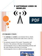 Antennas Used in Mobiles