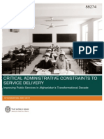 Critical Administrative Constraints to Service Delivery 201405