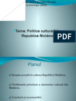 Politica Culturala in Republica Moldova