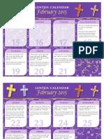 HFC Lenten Calendar 2015