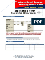 Application Form CELTA