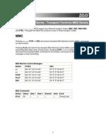 Mpd and Mpk Series Transport Controls Midi Details