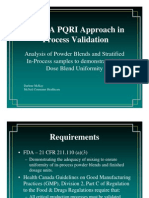 Using a PQRI Approach in Process Validation