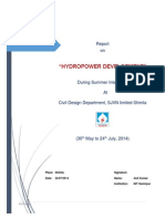 Industrial Trainig Report on Hydropower Development