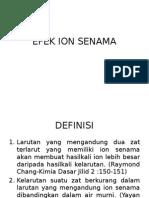 Efek Ion Senama