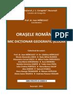 Orasele Romaniei. Mic Dictionar Geografic Scolar_i. Marculet
