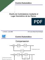 Diseño de Controladores Mediante El Lugar Geometrico de Las Raices