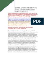 Alfonso Sánchez Mairena - Archivos Romanos y Eclesiásticos Altomedievales en Málaga