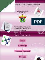 Cisplatin sebagai obat anti kanker