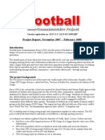 The First Report Of Football Between Communities Report 2007-2008