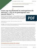 Start-up on-demand et entreprises de service