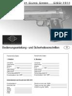 Gsg-1911 Bedienungsanleitung Deutsch