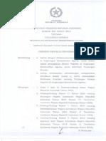 Peraturan Presiden No 108 Tahun 2014