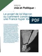 Le projet de loi Macron ou comment construire une France hyper libérale