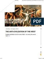 The Anti-civilization of the West