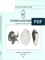 Lista Sistematica de Molusco