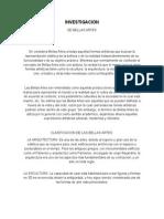 Investigacion de Bellas Artes
