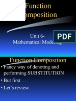 composition and inverses  of functions