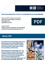 Recent Developments in the u s and Global Ferrous Scrap Markets 2011 ISRI 1