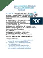 Empresas que realizam ESTUDOS DE MERCADO a operarem em Portugal.docx
