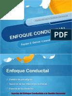 Gestión Gerencial - Enfoque Conductual