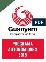 Guanyem Mallorca Programa Electoral 2015 2