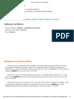 Místico - Dicionário Online de Português