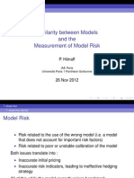 Similarity between models