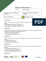 Exercício Diagnóstico Avaliativo n.º 1 - Ufcd 0580