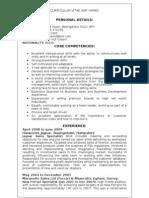 CV Asif Hamid Sales Executive