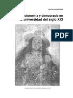 Autonomia y Democarcia en La Universidad Del Siglo XXI 8