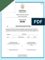 Diploma Nivel Primaria